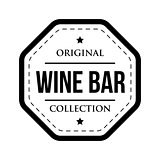 Wine bar logo vintage isolated label