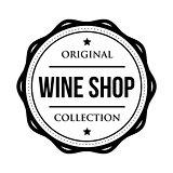 Wine shop logo vintage isolated label
