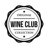 Wine club logo vintage isolated label