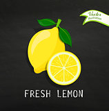 Fresh lemon, vector.