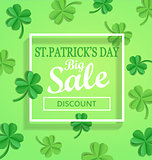 Saint Patricks Day Sale poster template.