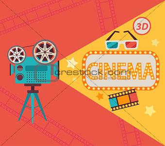 Cinema concept, vector.