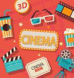 Concept of cinema.