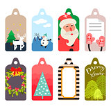 Christmas gift tag vector set.