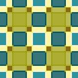 Geometric greenery plaid seamless pattern.