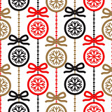 Christmas tree decoration seamless vector pattern.