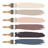 Paint brush icon and color swatch strokes.