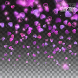 Glittering sparks heart explosion on transparent background. pink glitter particles shape. Sparkling diamond texture. Vector love saint valentine