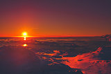 Summer sunset in Antarctica