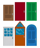 Set of front doors