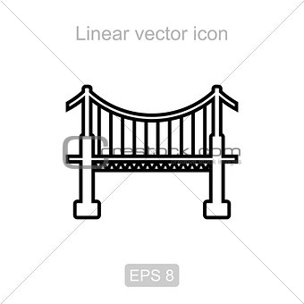 Bridge. Linear vector icon.