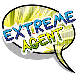 Extreme Agent - Comic book style word.