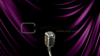 3D Illustration Abstract Background with Microphone