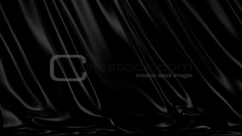3D Illustration Abstract Black Background