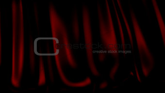 3D Illustration Abstract Red Background