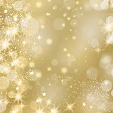 Golden sparkling background 2