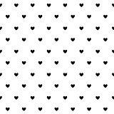 Valentine`s Day card, hearts background
