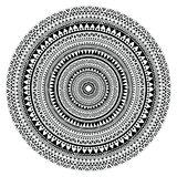 Vector tribal folk aztec geometric pattern in circle