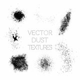 Set of Black Paint, Ink, Grunge, Dirty Splatter Dust.
