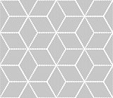 Seamless op art pattern. 3D optical illusion.