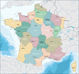 Map of French Republic