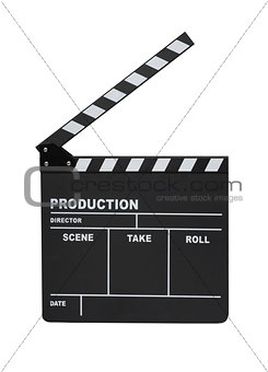 Clapperboard isolated