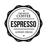 Coffee Espresso vintage stamp
