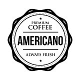 Coffee Americano vintage stamp