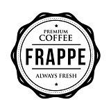 Coffee Frappe vintage stamp