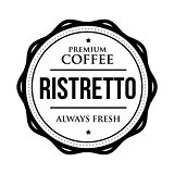 Coffee Ristretto vintage stamp