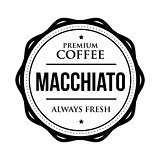 Coffee Macchiato vintage stamp