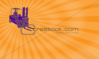 Forklifts Rental Business card