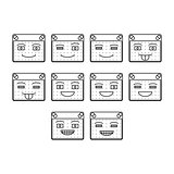 Happy emoticon icon set