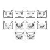 Happy emoticon icon set