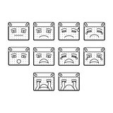 sad emoticon icon set