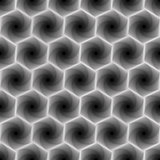 Seamless pattern with grey hexagonal forms