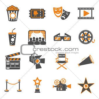 Cinema and Movie Icons Set