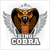 King cobra - mascot template design. Vector illustration.