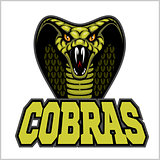 cobras green banner illustration design colorful