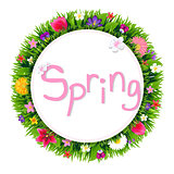 Banner With Spring Flowers