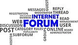 word cloud - internet forum