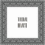 Vector Black Abstract Tribal Frame