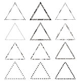 Vector Original drawing tribal triangles Set.