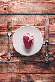 Heart on White Plate