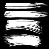 Black ink vector brush strokes background. Vector illustration. Grunge texture.