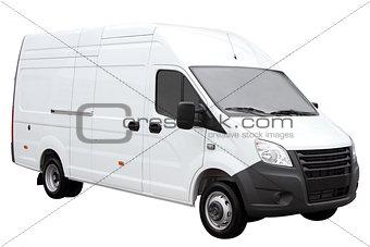 Modern white van.
