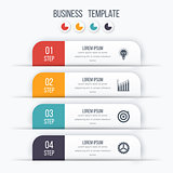 Modern infographics template with 4 options.
