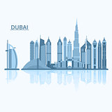 Vector illustration of Dubai city