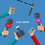 Vector illustration of live news