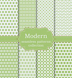 Vector illustration set of seamless patterns